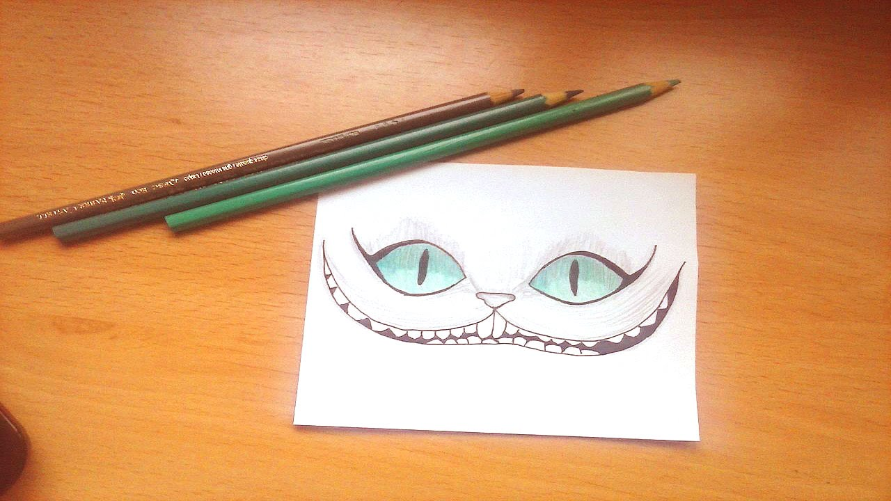 Drawing Tutorial Alice In Wonderland Cat Youtube