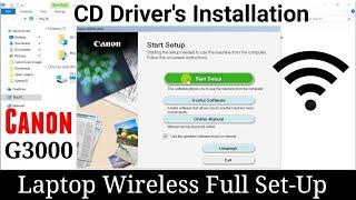 Laptop / Desktop Wi-Fi Full Set Up Canon Pixma G3000 | By TECH MUKANS