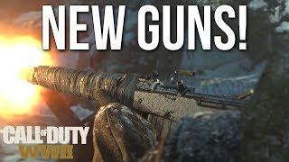 New Guns: Sten, Gewehr 43, GPMG LMG, Ice Pick! (Call of Duty: WW2 Gameplay Stream)