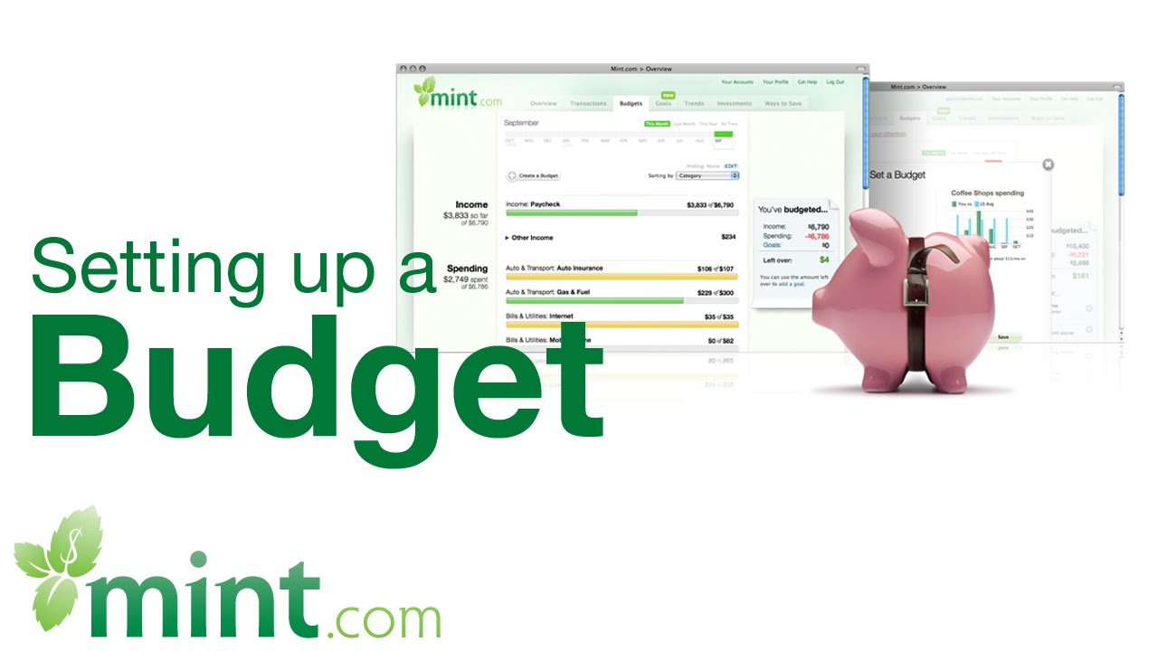 budgeting for personal finance goals how to use mint youtube