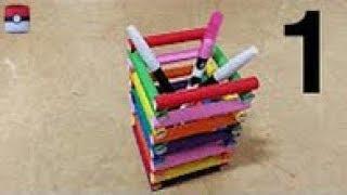 728 색종이(연필꽂이) 2 - 1 Pencil Holder papercraft  paper Origami 종이접기 색종이접기 折纸 оригами  摺紙  折り紙  اوريغامي