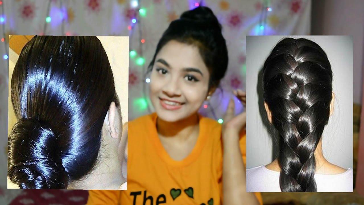 Hair Oil For All Hair Problems|Heavy Hair Oiling|Home Hairstyles For Oiled  Hair   YouTube