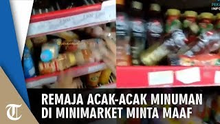 Viral Video 2 Remaja Acak-acak Minuman di Minimarket, Berakhir Menangis Minta Maaf
