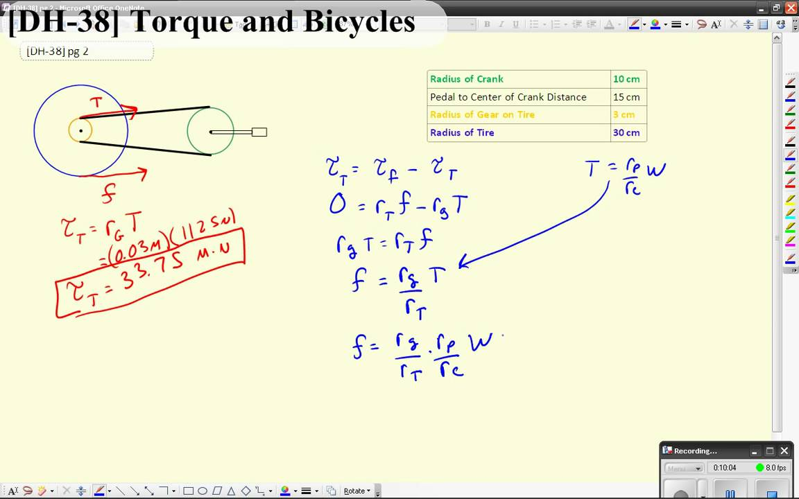 [DH-38] Torque and Bicycles
