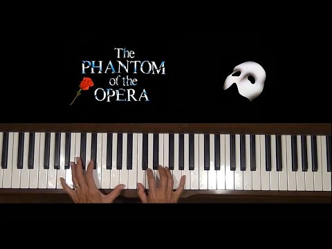 Music of the Night Phantom of the Opera Piano Tutorial SLOW