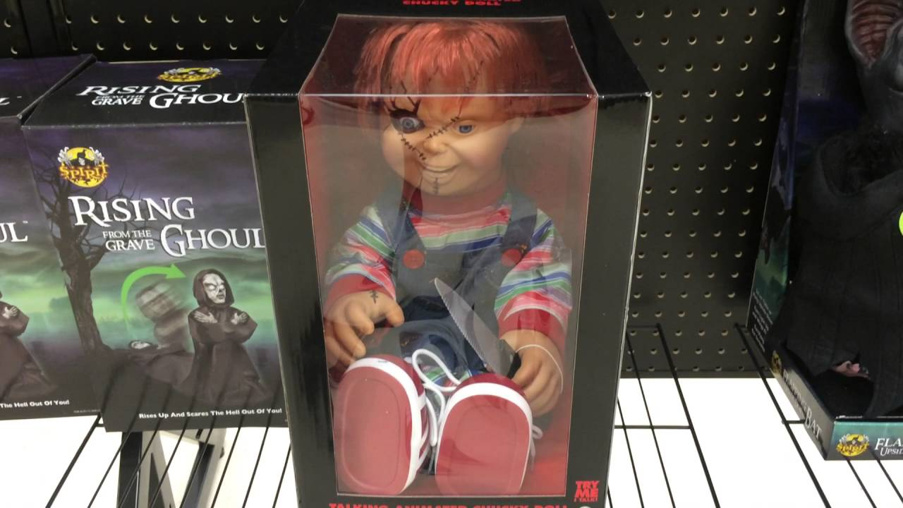 Spirit Halloween 2015 Y J Talking Chucky Doll Youtube