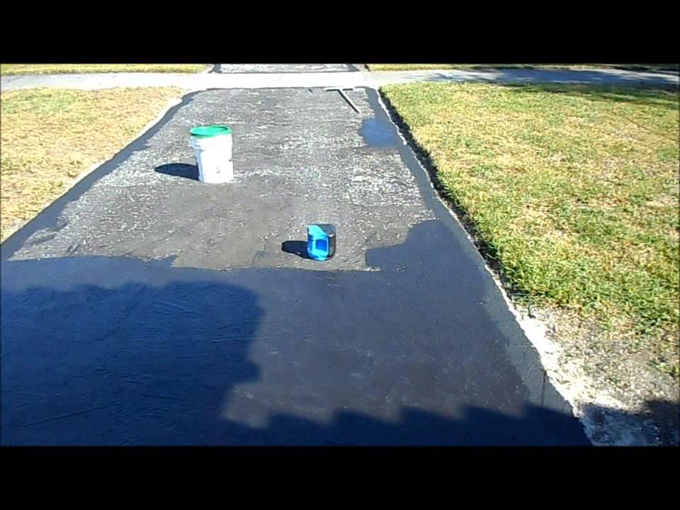 painting asphalt driveway again youtube