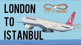Best flying game for android, iPhone and ipad[infinite flight]London to Istanbul