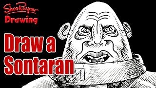 How to draw a Sontaran from Doctor Who