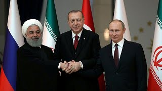 The presidents of Iran, Turkey and Russia meet for Syrian summit
