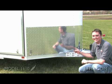 Economical Utility Cargo Trailer - Tour The All Aluminum Model 1610 Featherlite