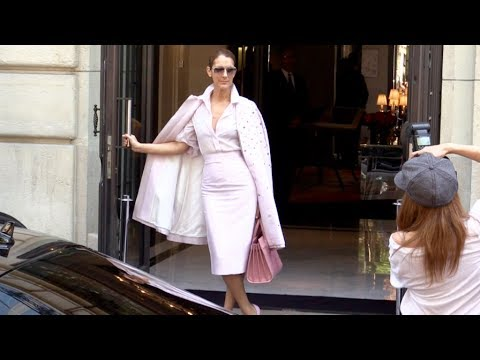 Get EXCLUSIVE - All Pink Celine Dion leaving her hotel in Paris Pics
