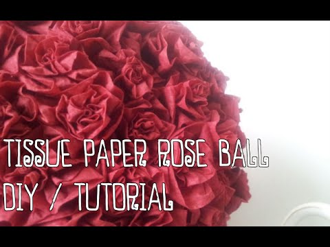 Tissue paper rose ball diy tutorial youtube tissue paper rose ball diy tutorial mightylinksfo