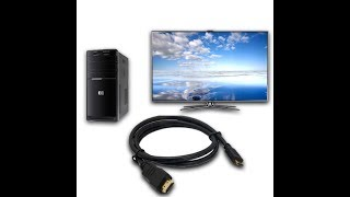 Проблема при подключении пк к телевизору через HDMI кабель