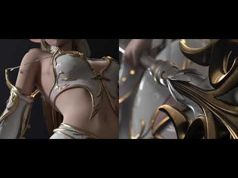 Lineage 2 Mobile Elf (Majestic Set) Feat D. Elf (Draconic Set)