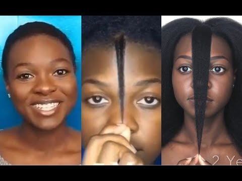 Natural Hair Growth Time Lapse | 2 Years Post Big Chop | Month To Month | Asia Char