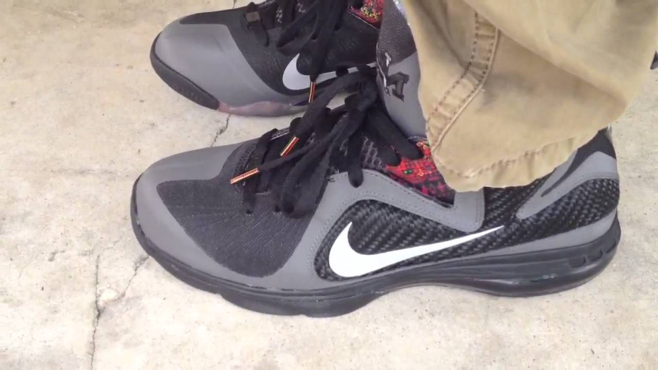 new concept b0123 07929 Nike Lebron 9 BHM Black History Month on feet