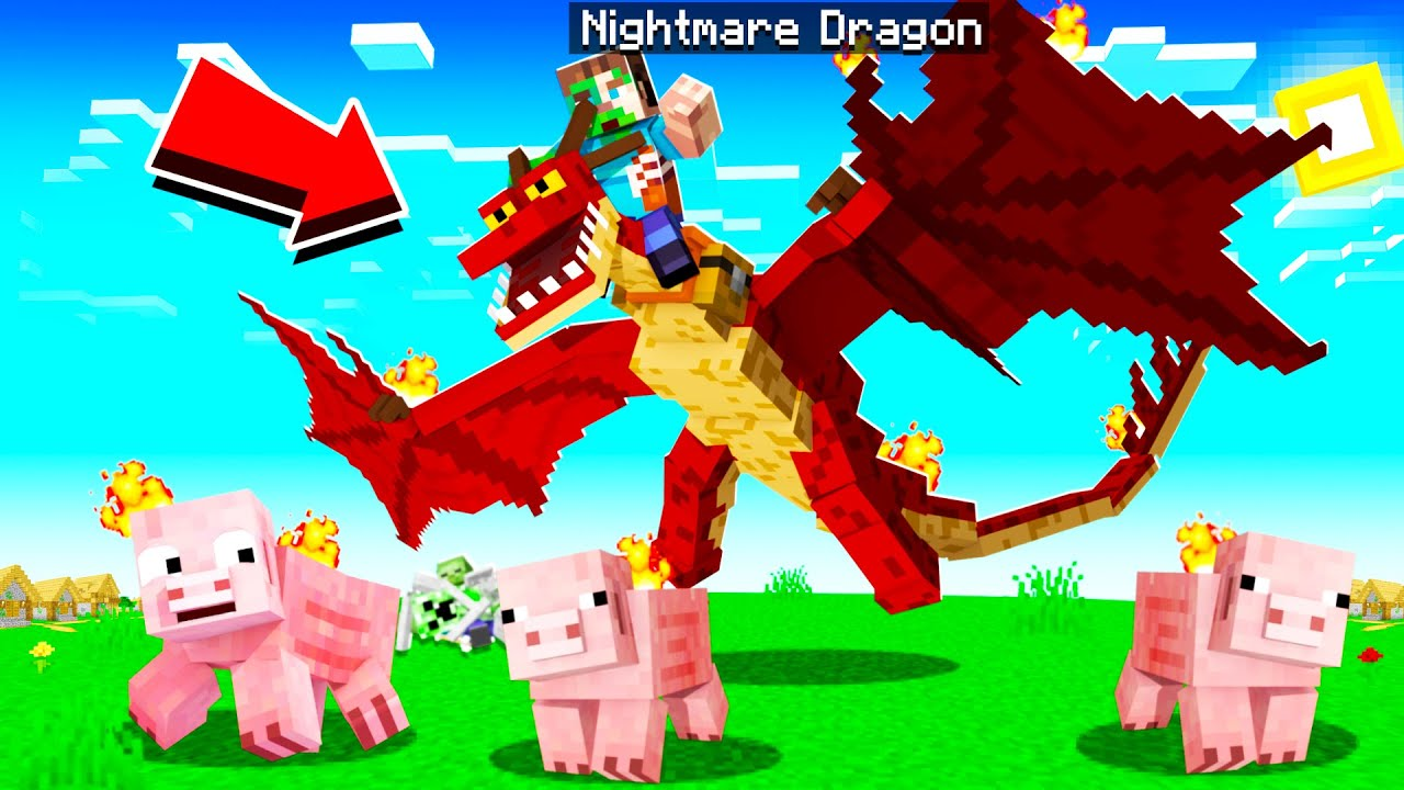 TAMING a MONSTROUS NIGHTMARE DRAGON in MINECRAFT! | How To Train Your Dragon