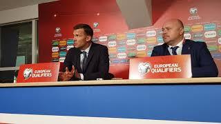 Пресс-конференция Шевченко после поражения от Исландии