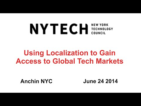 NYTECH - Using Localization to Gain Access to Global Tech Markets