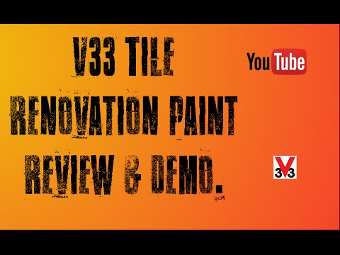 B&Q's V33 Tile renovation paint demo & review project. UK