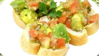 Ensalada De Aguacate Y Tomate/ Avocado And Tomato Salad Gazpacho Puertorriqueño