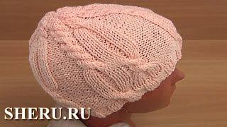 Вязание шапочки Урок 31 часть 1 из 3 Вязание спицами
