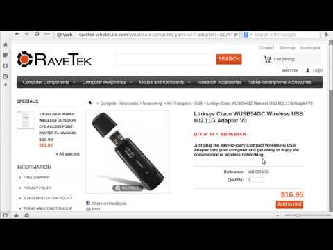 Linksys Cisco WUSB54GC Wireless USB 802.11G Adapter V3
