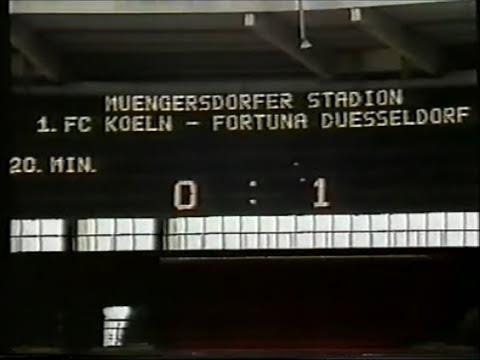 1986 1. FC Köln - Fortuna Düsseldorf 1:3 | Tore: Günter Thiele, Holger Fach, Andreas Keim