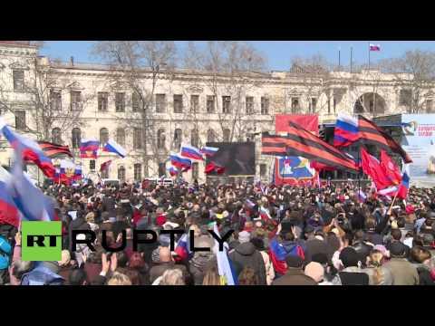 Russia: Sevastopol celebrates as Crimea joins Russia
