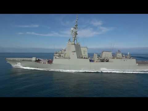 Royal Australian Navy Air Warfare Destroyer Hobart Sea Trials