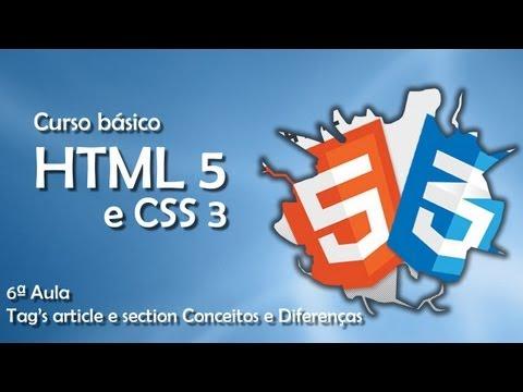 Curso De HTML5 E CSS3 - Tags Article E Section - Conceitos E Diferenças #06