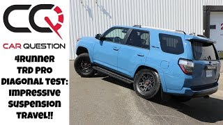 Toyota 4Runner TRD Pro: diagonal test | TOO EASY for that blue beast!