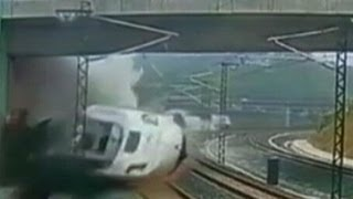 Caught on Tape: Deadly Train Crash in Spain