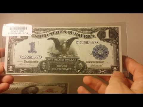 U.S. Currency 1899 $1 and 1966 $100