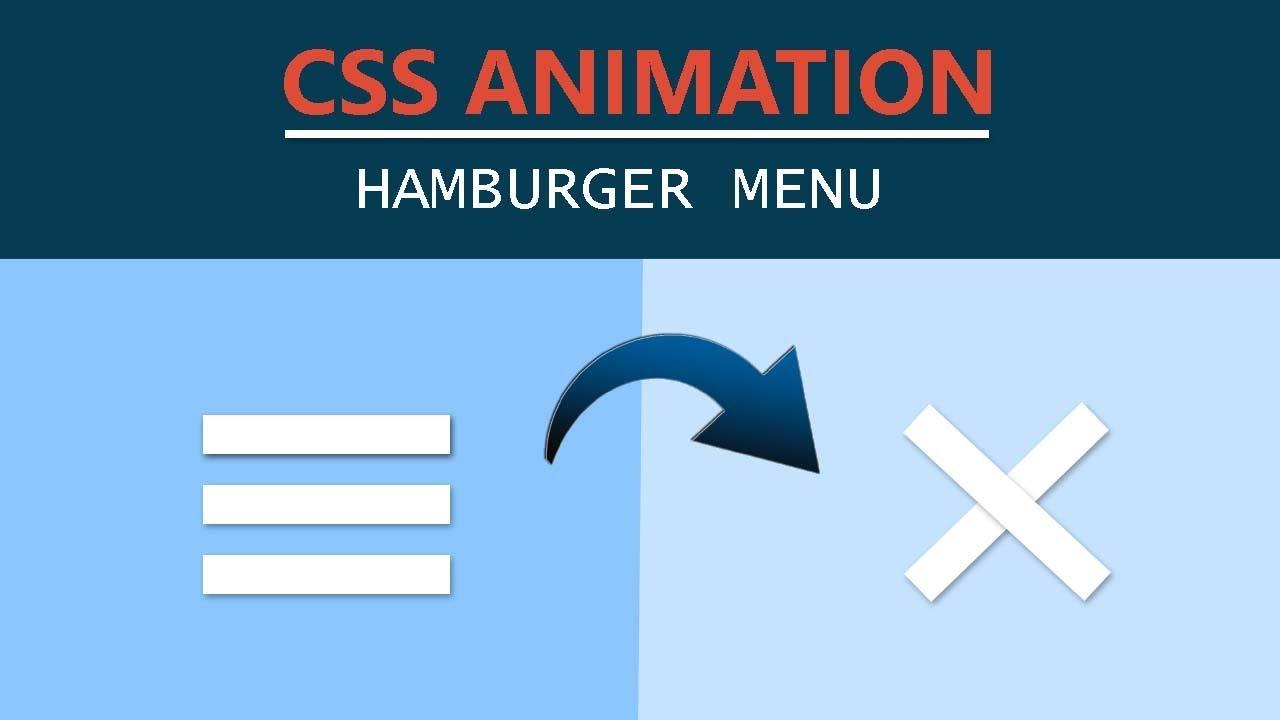 CSS Animation Tutorial - Hamburger Menu