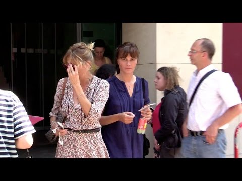 EXCLUSIVE: Marina Hands coming out of RTL radio station in Paris