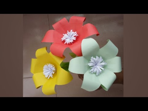 DIY: Paper Lily Flower !!! How to Make Easy & Beautiful Paper Lily Flower !!!