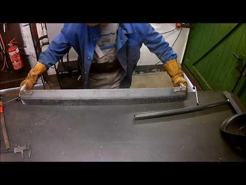 DIY sheet metal bender / Kantbank selber bauen  Stel Iron-Mig 221p