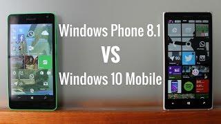 Windows Phone 8.1 frente a Windows 10 Mobile, en español