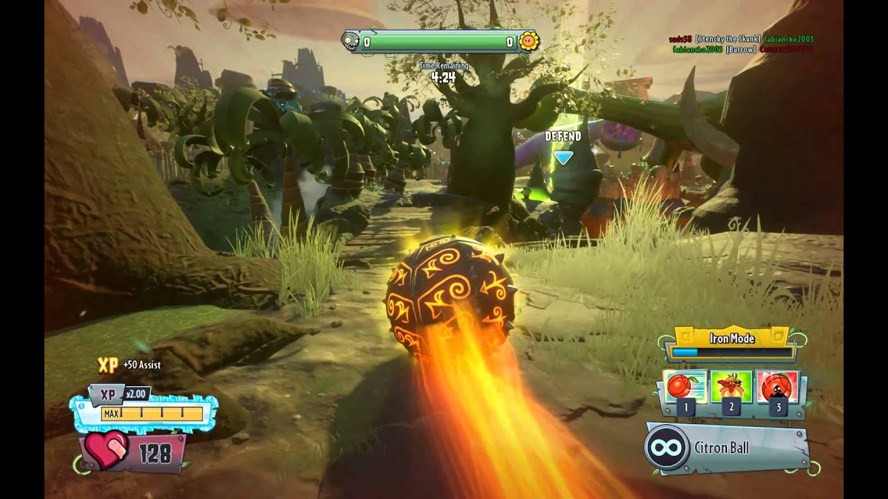 PvzGW2 - Seeds of time 2nd garden Iron citron - YouTube