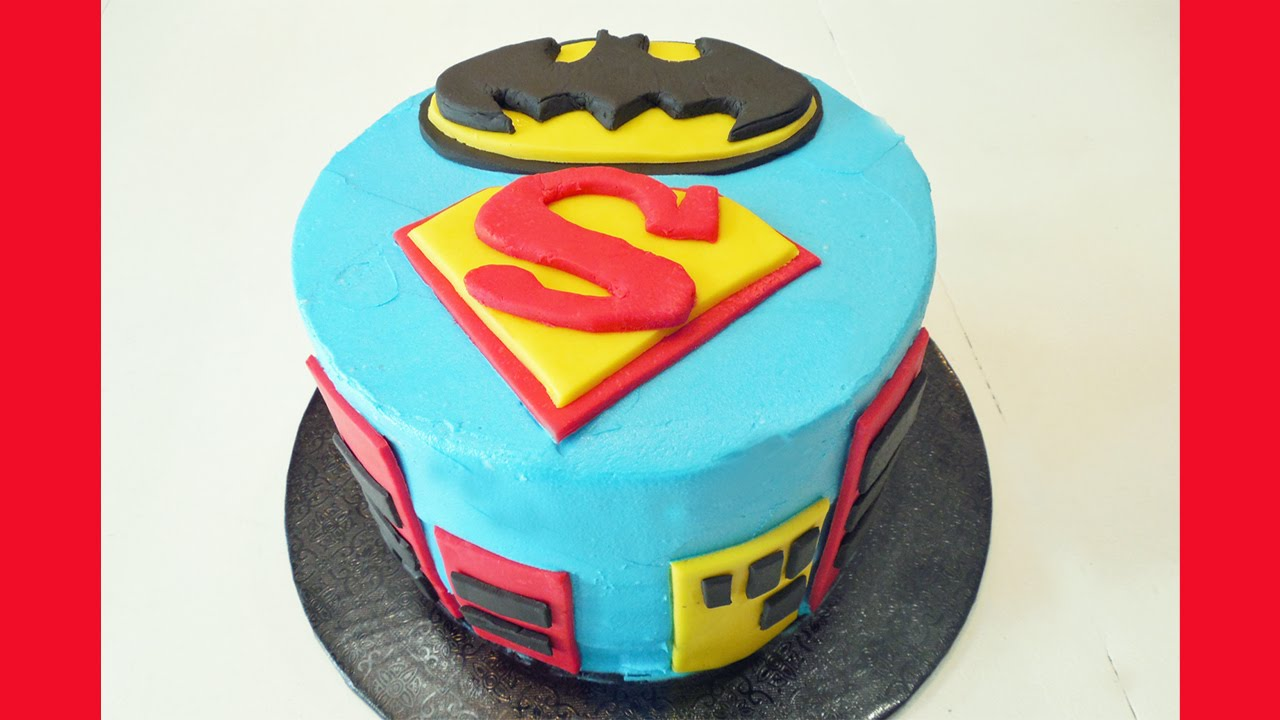 How To Make A Batman Superman Birthday Cake With Jill Youtube