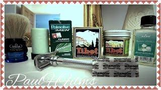 Merkur Slant 39c ~ Palmolive Shaving Soap