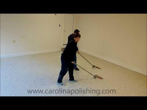 Professional Epoxy Flake Floor Install