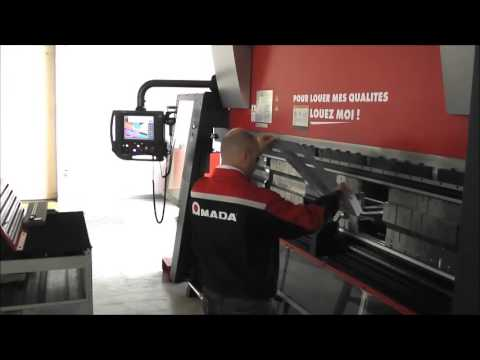 Amada HD ATC Press Brake 10 bend parts