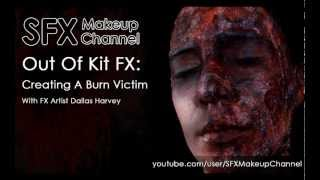 SFX Makeup Channel - Out Of Kit: Creating A Burn Victim