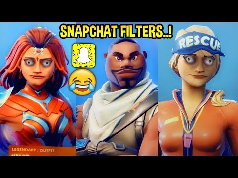 I Put Snapchat Filters On My Fortnite Skins & They Looked Like This..!