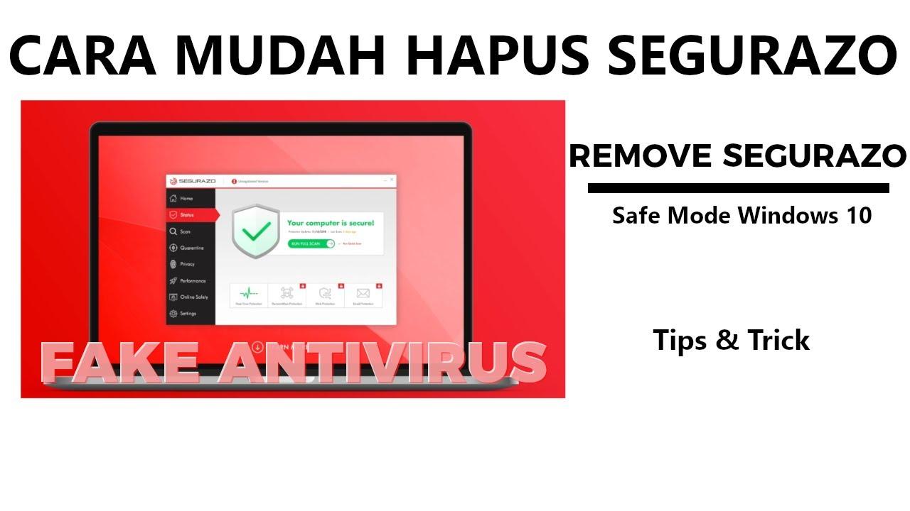 Cara Mudah Menghapus Segurazo - Remove Segurazo - YouTube