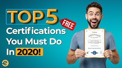Top 5 Free Certification you must do in 2020 |Eduonix
