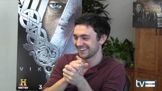 "Vikings (History Channel): George Blagden (""Athelstan"") Interview"